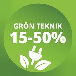 Grön Teknik, skattereduktion 15-50%
